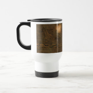 Cantering Wild Spirited Horse Faux Leather-effect Travel Mug