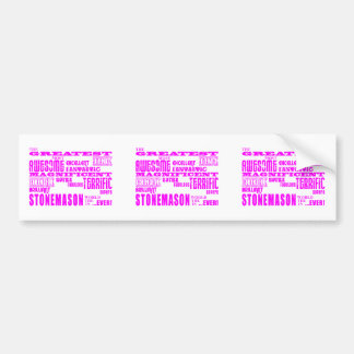 Canteros de los chicas: Cantero más grande rosado Etiqueta De Parachoque