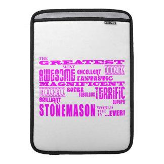 Canteros de los chicas: Cantero más grande rosado Funda MacBook