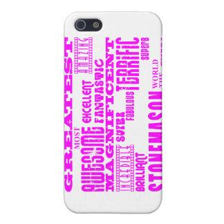 Canteros de los chicas: Cantero más grande rosado iPhone 5 Protectores