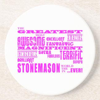 Canteros de los chicas: Cantero más grande rosado Posavasos Manualidades