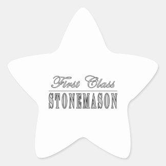 Canteros elegantes: Cantero de la primera clase Pegatina En Forma De Estrella