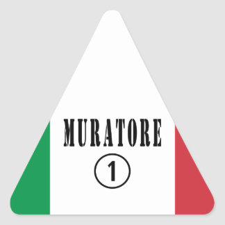 Canteros italianos: Uno de Muratore Numero Pegatina Triangular