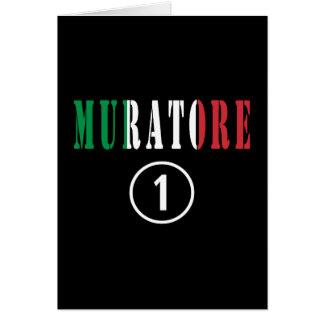 Canteros italianos: Uno de Muratore Numero Tarjeta Pequeña