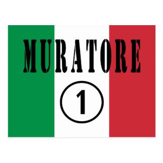 Canteros italianos: Uno de Muratore Numero Tarjeta Postal