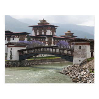Cantilevered bridge near Punakha Dzong palace Postcard