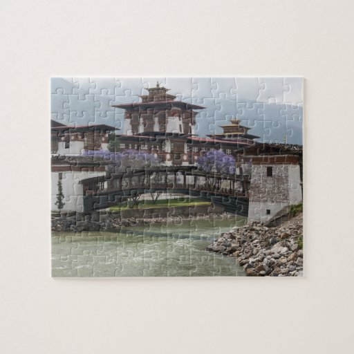 Cantilevered bridge near Punakha Dzong palace Puzzle