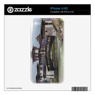 Cantilevered bridge near Punakha Dzong palace Decals For iPhone 4