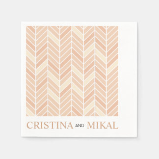 Cantilevered Chevron Cocktail Party | blush Paper Napkin