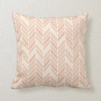 Cantilevered Chevron narrow | blush Throw Pillow