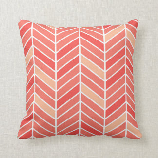 Cantilevered Chevron wide | peach Pillow