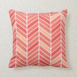 Cantilevered Chevron wide | peach Pillows
