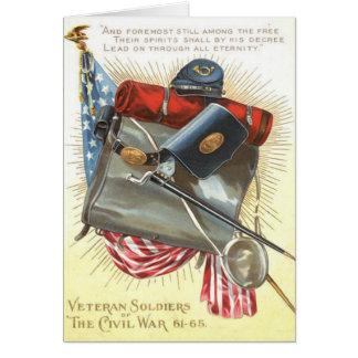 Cantina de la bayoneta de la bandera de los tarjeta de felicitación