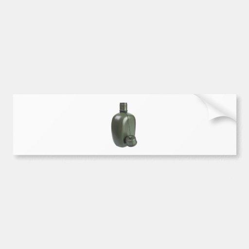 Cantina del plástico del verde caqui pegatina para auto