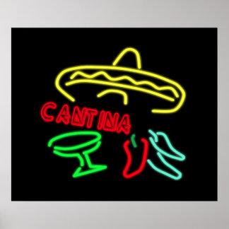 Cantina Neon Sign Print