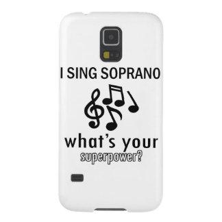 Canto al soprano carcasas para galaxy s5