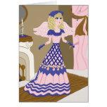 Canto azul y rosado del ángel del Victorian por la Felicitación