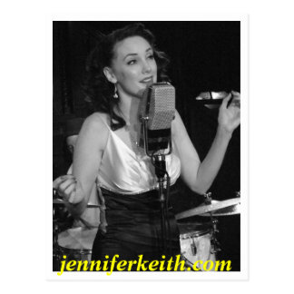 Canto blanco y negro, jennife de Jennifer Keith… Postal
