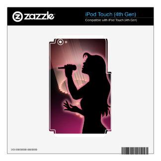 Canto Calcomanías Para iPod Touch 4G