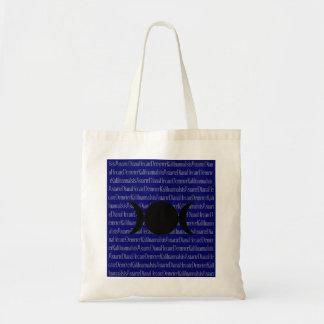 Canto de la diosa (azul marino) bolsa tela barata