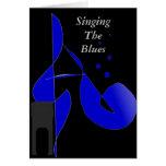 Canto de la tarjeta de los azules
