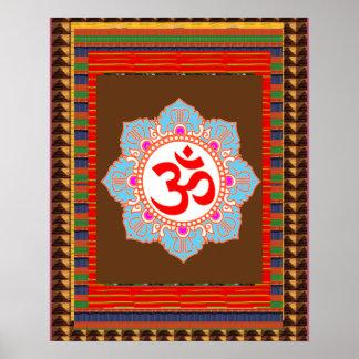 Canto de la yoga de OmMantra del MANTRA de OM:  el Póster