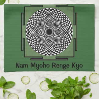 Canto de Nam Myoho Renge Kyo Toallas De Cocina
