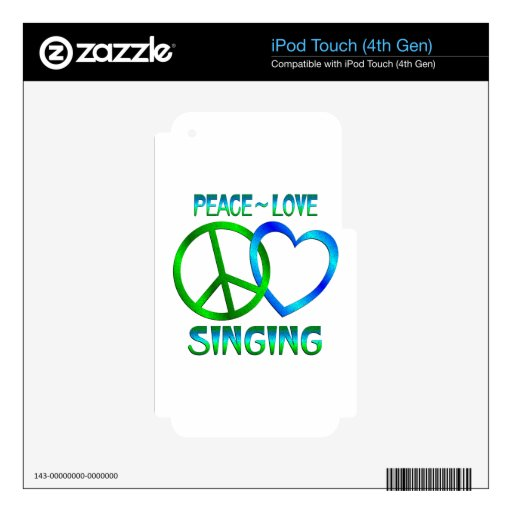 Canto del amor de la paz iPod touch 4G skins