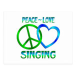 Canto del amor de la paz tarjeta postal