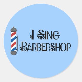 Canto el regalo de la barbería pegatinas redondas