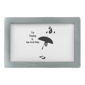 Canto en la lluvia ácida hebillas de cinturón rectangulares