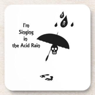 Canto en la lluvia ácida posavasos