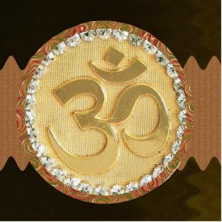 Canto espiritual de la meditación de la yoga del fotoescultura vertical