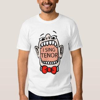 Canto la camiseta del tenor remeras
