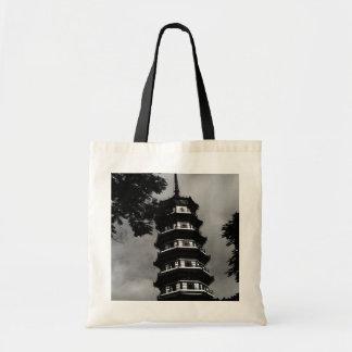 Cantón de BW China la pagoda florida 1970 Bolsas De Mano