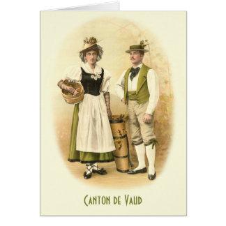 Canton de Vaud, Vignerons in Traditional Costume Card