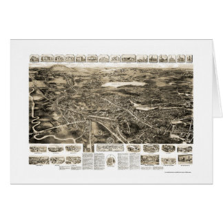 Canton, MA Panoramic Map - 1918 Card