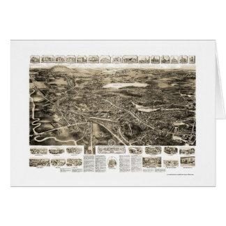 Cantón, mapa panorámico del mA - 1918 Felicitación