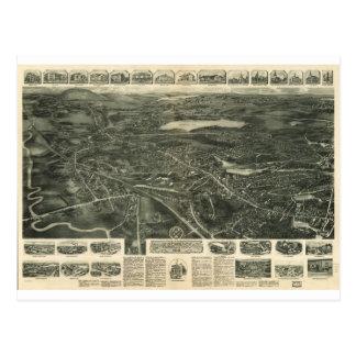 Canton, Massachusetts in 1918 Postcard