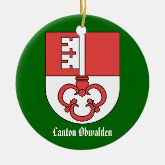 Cantón Obwalden*, ornamento del navidad de Suiza Adornos