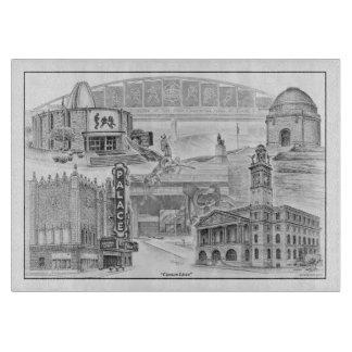 Canton Ohio Historic Landmarks Cutting Board
