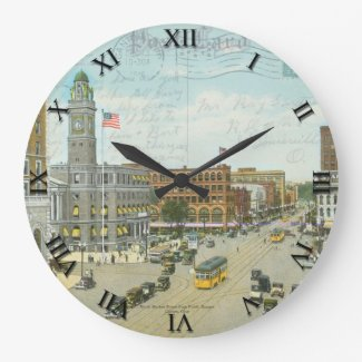 Canton, Ohio Post Card Clock - Market Street