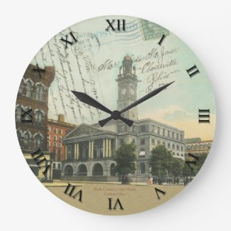 Canton, Ohio Post Card Clock - Stark County Court