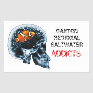 Canton Regional Saltwater Addicts Rectangular Sticker