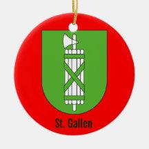 Cantón St Gallen * ornamento del navidad Adorno