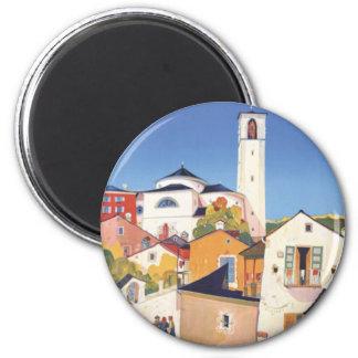 Cantón Suiza de Tesino Tessin del vintage Imán Redondo 5 Cm