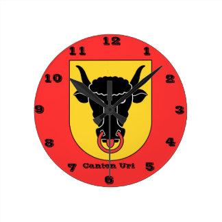 Canton Uri, Switzerland Wall Clock