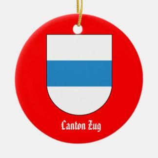 Canton Zug*, Switzerland Christmas Ornament