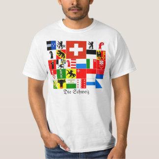 Cantones de Schweiz Suiza Suisse Svizzera Svizra Remera