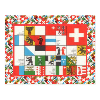 Cantonial flags of Switzerland Post Card